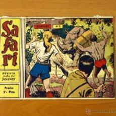 Tebeos: SAFARI - Nº 1 EL CAÑÓN DEL MUERTO - EDITORIAL RICART 1963. Lote 50330767