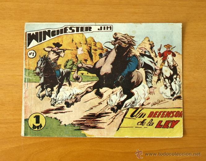 WINCHESTER JIM - Nº 1 UN DEFENSOR DE LA LEY - EDITORIAL RICART 1955 (Tebeos y Cómics - Números 1)