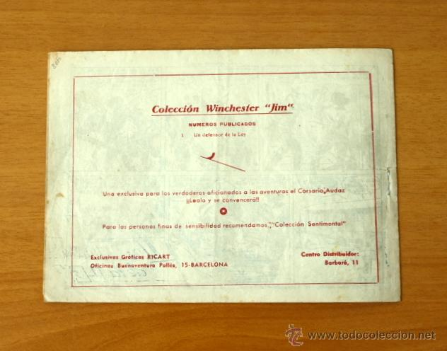 Tebeos: Winchester Jim - Nº 1 Un defensor de la ley - Editorial Ricart 1955 - Foto 5 - 50331400