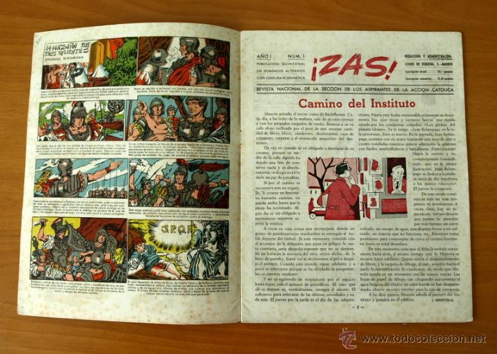 Tebeos: Zas - Nº 1 - Editorial A.A. Católica 1945 - Foto 2 - 50331745