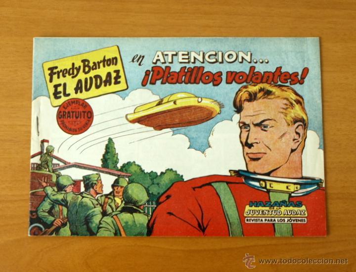 FREDY BARTON EL AUDAZ - Nº 1 ATENCIÓN... PLATILLOS VOLANTES - EDITORIAL VALENCIANA 1960 (Tebeos y Cómics - Números 1)