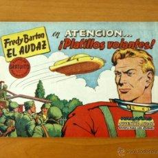 Tebeos: FREDY BARTON EL AUDAZ - Nº 1 ATENCIÓN... PLATILLOS VOLANTES - EDITORIAL VALENCIANA 1960. Lote 50332499