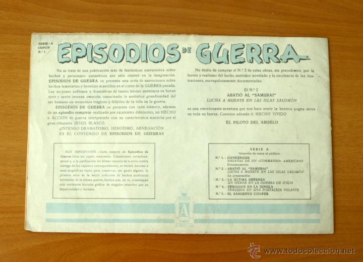 Tebeos: Episodios de guerra - Nº 1 Dunkerque - Editorial Augusta 1948 - Foto 5 - 50333494