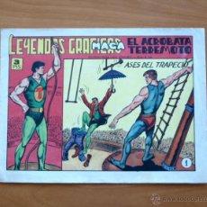 Tebeos: EL ACRÓBATA TERREMOTO - Nº 1 ASES DEL TRAPECIO - EDITORIAL MAGA 1966 . Lote 50335337
