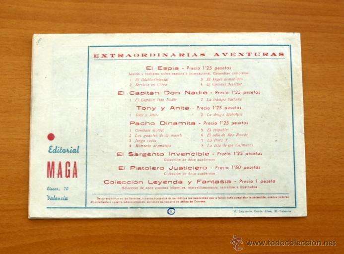 Tebeos: El Capitán Don nadie - Nº 1 - Editorial Maga 1952 - Foto 5 - 50337271