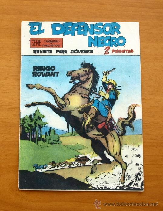 EL DEFENSOR NEGRO - Nº 1 RINGO ROWANT - EDITORIAL MAGA 1963 (Tebeos y Cómics - Números 1)
