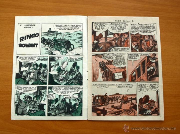 Tebeos: El defensor negro - Nº 1 Ringo Rowant - Editorial Maga 1963 - Foto 2 - 50337708