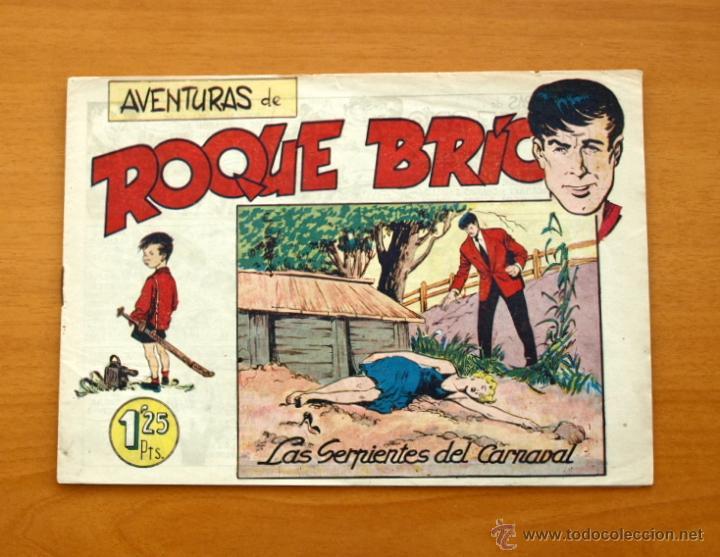 ROQUE BRIO - Nº 1 LAS SERPIENTES DEL CARNAVAL - EDITORIAL MAGA 1956 (Tebeos y Cómics - Números 1)