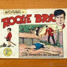 Tebeos: ROQUE BRIO - Nº 1 LAS SERPIENTES DEL CARNAVAL - EDITORIAL MAGA 1956. Lote 50345958