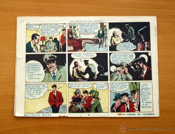 Tebeos: Roque Brio - Nº 1 Las serpientes del carnaval - Editorial Maga 1956 - Foto 5 - 50345958