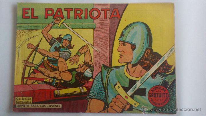 TEBEO EL PATRIOTA, Nº 1, COLECCION COMANDOS , AÑO 1961, EDITORIAL VALENCIANA (Tebeos y Cómics - Números 1)