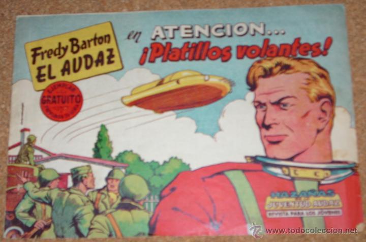 FREDY BARTON EL AUDAZ Nº 1 - VALENCIANA 1961-- ORIGINAL (Tebeos y Cómics - Números 1)