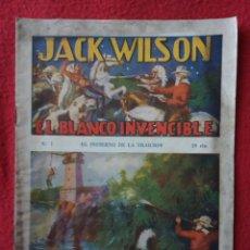 Tebeos: JACK WILSON Nº1. Lote 55155021
