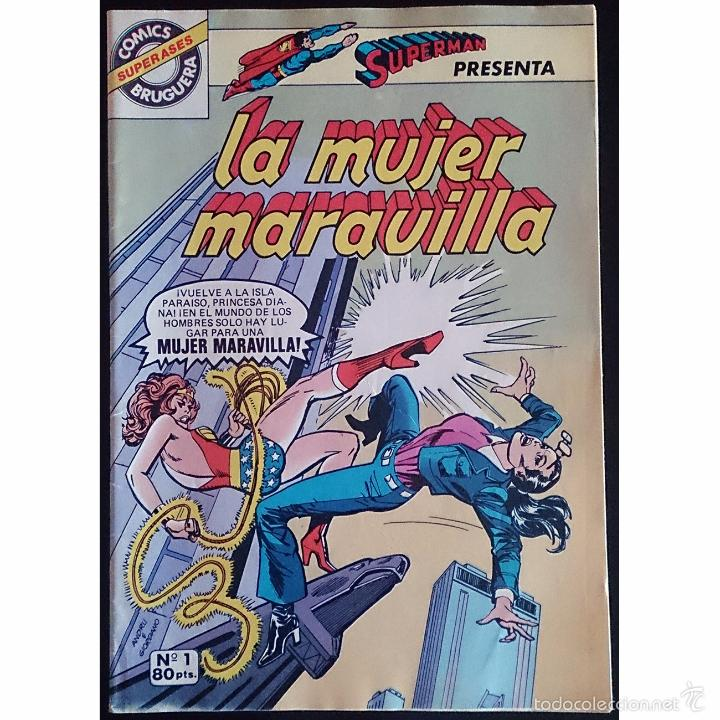 LA MUJER MARAVILLA Nº 1 / SUPER ASES Nº 1 (SERIE GRAPA) / DC / BRUGUERA 1980 (G.BROWN & R.ANDRU) - (Tebeos y Cómics - Números 1)