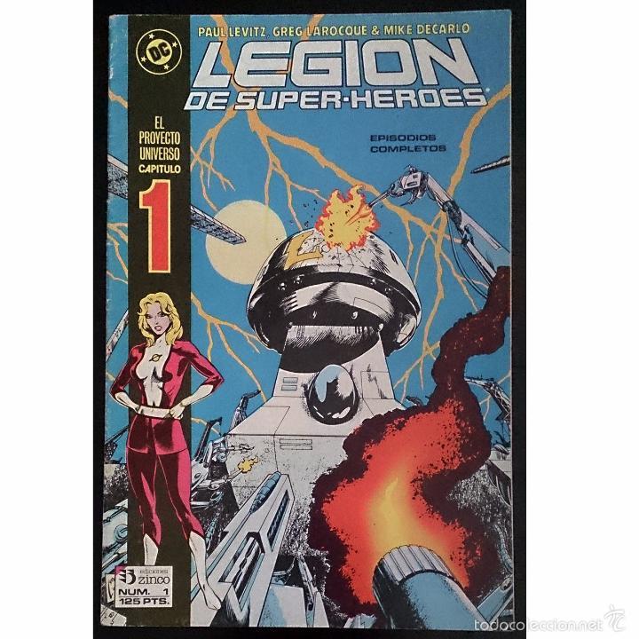 LEGION DE SUPERHEROES Nº 1 / DC / ZINCO 1987 (PAUL LEVITZ & GREG LAROCQUE ) (Tebeos y Cómics - Números 1)