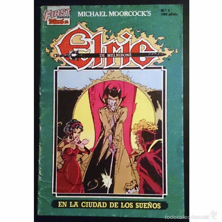 ELRIC DE MELNIBONÉ Nº1 / EN LA CIUDAD DE LOS SUEÑOS / EDICIONES FIRST 1988 (MICHAEL MOORCOCK) (Tebeos y Cómics - Números 1)