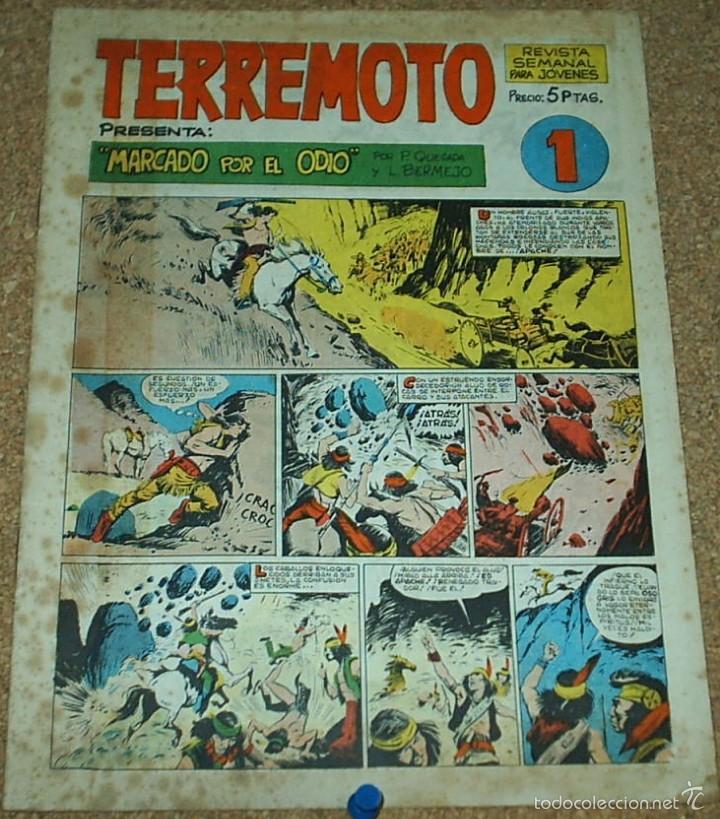 TERREMOTO REVISTA Nº 1 - MAGA 1964 - ORIGINAL DIFICIL - LEER TODO (Tebeos y Cómics - Números 1)