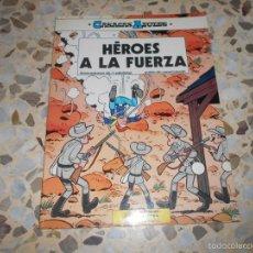 Tebeos: CASACAS AZULES - HEROES A LA FUERZA N. 1 LOS GUERRERAS AZULES - UN CARRO EN EL OESTE N. 1. Lote 59448405