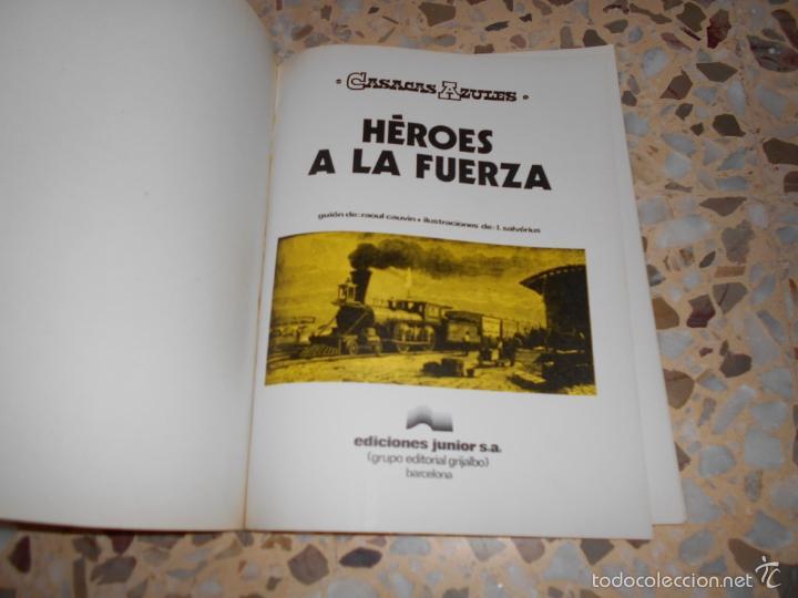 Tebeos: CASACAS AZULES - HEROES A LA FUERZA N. 1 LOS GUERRERAS AZULES - UN CARRO EN EL OESTE N. 1 - Foto 2 - 59448405