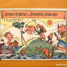 Tebeos: AVENTURAS DE TINITA Y PACHIN, Nº 1 - EDITORIAL BERGIS MUNDIAL, AÑOS 40, RARO Y VARIEDAD, VER DENTRO. Lote 61371931