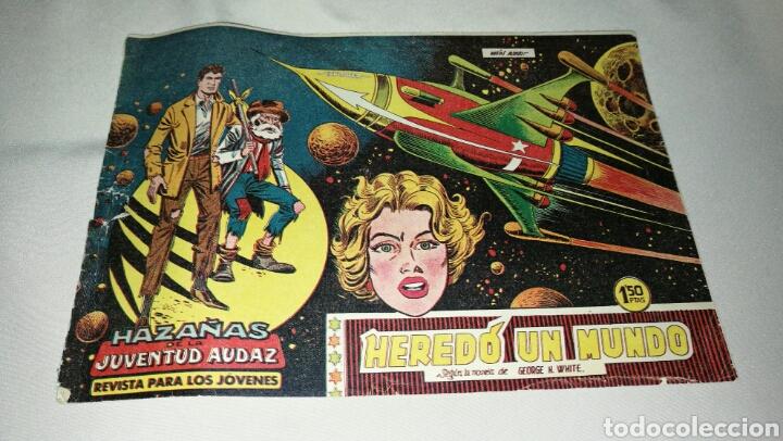 HAZAÑAS DE LA JUVENTUD AUDAZ . HEREDÓ UN MUNDO N° 1 . ED. VALENCIANA . ORIGINAL 1959 (Tebeos y Cómics - Números 1)