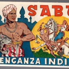 Tebeos: SABU. VENGANZA INDIA. EDITORIAL ASPIRACIONES. AÑOS 40. ORIGINAL. Lote 75406307