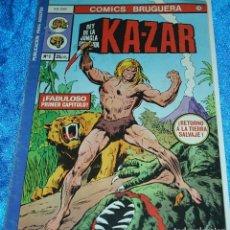 Tebeos: KA-ZAR Nº 1 - BRUGUERA 1977 - LIQUIDACION NUMEROS UNO. Lote 84704292