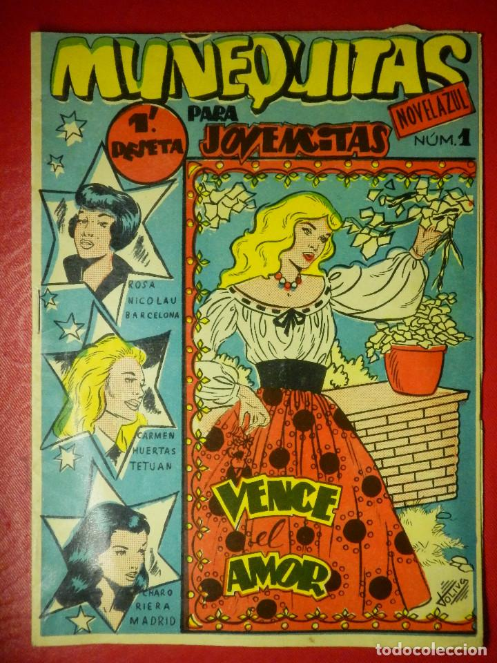 ANTIGUO TEBEO PARA NIÑAS - MUÑEQUITAS Nº 1- VENCE EL AMOR - EDITORIAL VALOR - AÑOS 50 - RARO (Tebeos y Cómics - Números 1)
