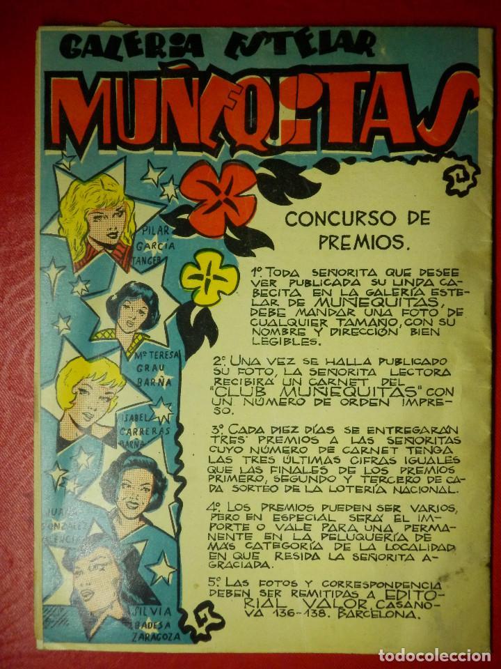 Tebeos: Antiguo Tebeo para niñas - MUÑEQUITAS Nº 1- VENCE EL AMOR - EDITORIAL VALOR - AÑOS 50 - Raro - Foto 2 - 85095880