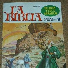 Tebeos: LA BIBLIA Nº 1 BRUGUERA - DIFICIL - ORIGINAL - LIQUIDACION NUMEROS UNO. Lote 86154248