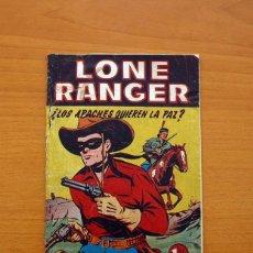 Tebeos: LONE RANGER, Nº 1 ¿LOS APACHES QUIEREN LA PAZ? - EDITORIAL HISPANO AMERICANA 1949, VER FOTOS. Lote 87514876