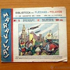 Tebeos: MARAVILLAS´- Nº 1 - FET Y JONS 1939. Lote 50316986