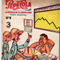 BDs: PEPE COLA. LA REVISTA DE LA CORDIALIDAD. Nº 1. EDITORIAL MATEU. AÑO 1959. Lote 92713260