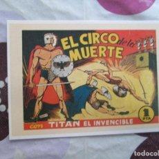 Tebeos: TITAN EL INVENCIBLE Nº 1 FICHA. Lote 95768463