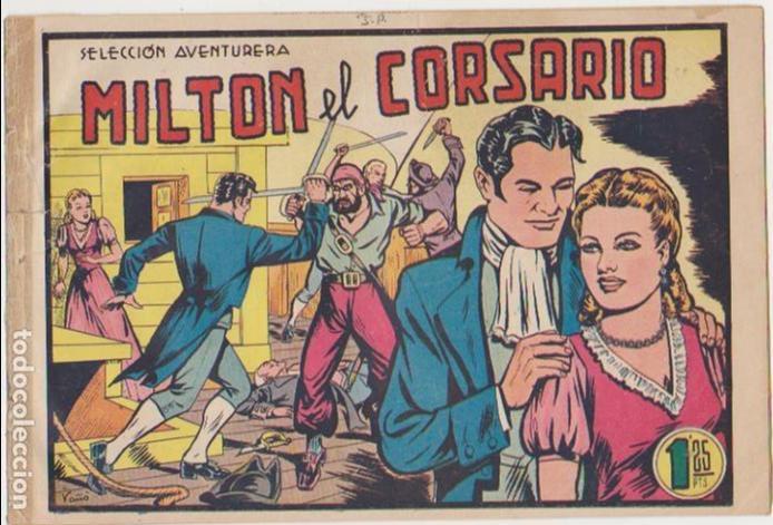 MILTON EL CORSARIO Nº 1. VALENCIANA 1956. (Tebeos y Cómics - Números 1)