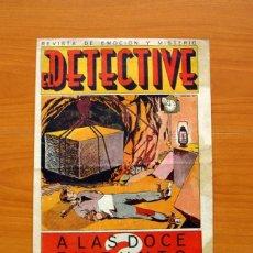 Tebeos: EL DETECTIVE, Nº 1, A LAS DOCE EN PUNTO - EDITORIAL EL GATO NEGRO 1936 - TAMAÑO 35X25. Lote 98845343