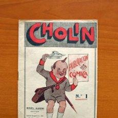 Tebeos: CHOLIN, Nº 1, PUBLICACIÓN CÓMICA - EDITORIAL MIGUEL ALBERO 1928 - TAMAÑO 21'5X15. Lote 98865563