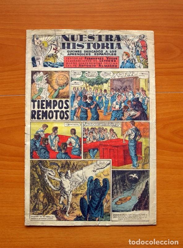 NUESTRA HISTORIA, Nº 1 -TIEMPOS REMOTOS -EDITADO EN 1944 POR EL FRENTE DE JUVENTUDES -TAMAÑO 31'5X21 (Tebeos y Cómics - Números 1)