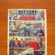 Giornalini: NUESTRA HISTORIA, Nº 1 -TIEMPOS REMOTOS -EDITADO EN 1944 POR EL FRENTE DE JUVENTUDES -TAMAÑO 31'5X21. Lote 98868035