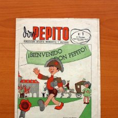 Tebeos: DON PEPITO - Nº 1, BIENVENIDO DON PEPITO - EDITA JOSÉ BARBERO 1956 - TAMAÑO 26X20. Lote 99650891