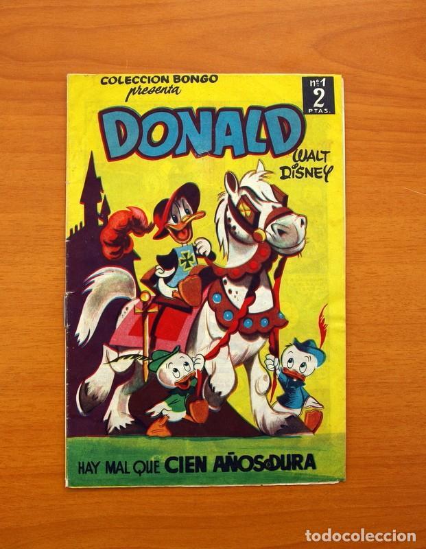 COLECCIÓN BONGO - DONALD - Nº 1, HAY MAL QUE CIEN AÑOS DURA - EDICIONES RECREATIVAS 1949 (Tebeos y Cómics - Números 1)