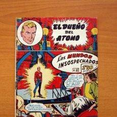 Tebeos: EL DUEÑO DEL ÁTOMO - Nº 1, LOS MUNDOS INSOSPECHADOS - EDITORIAL FERMA 1956 - TAMAÑO 24X16'5. Lote 100023083