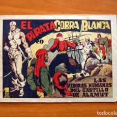 Tebeos: EL PIRATA COBRA BLANCA - Nº 1, LAS VIBORAS HUMANAS DEL CASTILLO DE ALAMUT - EDITORIAL CIES 1949. Lote 100024631