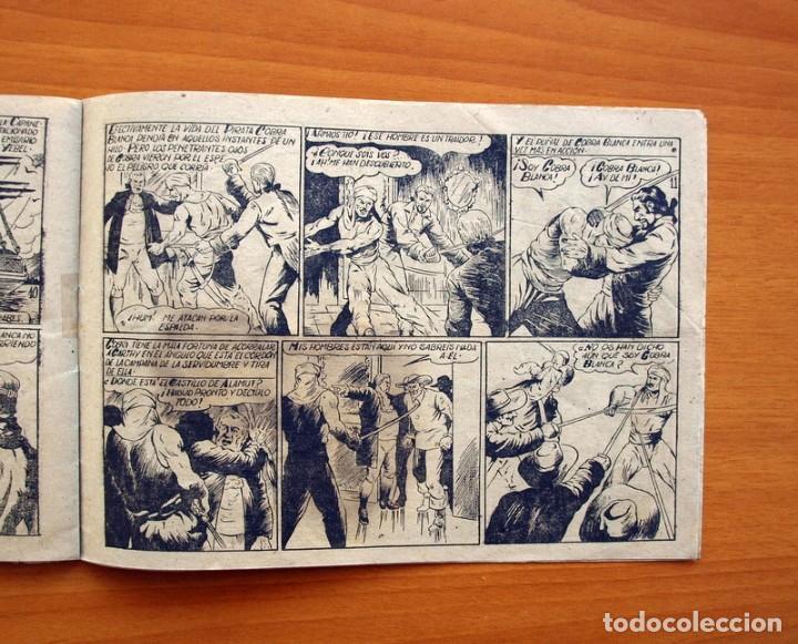 Tebeos: El pirata Cobra Blanca - nº 1, Las viboras humanas del castillo de Alamut - Editorial Cies 1949 - Foto 5 - 100024631