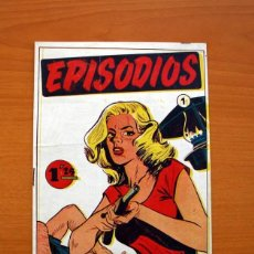 Tebeos: EPISODIOS, Nº 1 - EDITORIAL SIMBOLO 1954 - TAMAÑO 23'5X16'5. Lote 100025363