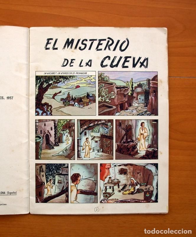Tebeos: La buena nueva - nº 1, El misterio de la cueva - Editorial Cervantes 1957 - Tamaño 25x18 - Foto 3 - 100580155