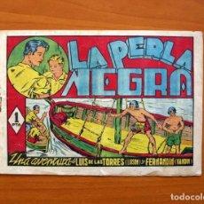 Tebeos: LUISÓN Y NANDIN - Nº 1, LA PERLA NEGRA - EDITORIAL J.L. AGUILAR 1943 - TAMAÑO 16X23. Lote 100585119