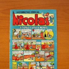 Tebeos: NICOLÁS - Nº 1, A TONO CON LA MODA - EDITORIAL CLIPER 1948 - TAMAÑO 26X18. Lote 100670671
