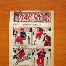 Tebeos: TOMASÍN - Nº 1, QUE SUERTE TIENES TOMASÍN - AÑOS 30 - TAMAÑO 21X15'5. Lote 100895615