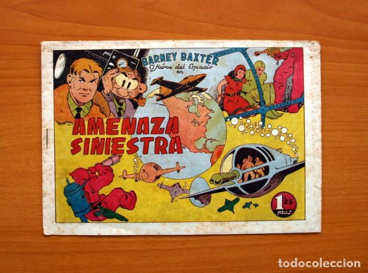 BARNEY BAXTER Nº 1, AMENAZA SINIESTRA - EDITORIAL VALENCIANA 1950 - TAMAÑO 17X24 (Tebeos y Cómics - Números 1)